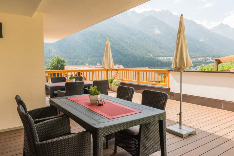 Apartment im Huggn - Terrasse